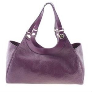 231820 Charmy Guccissima  Purple Leather Tote
